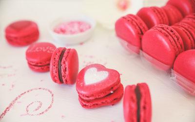 Macarons pour la St Valentin…