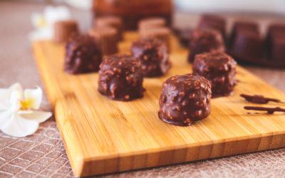 Bonbons chocolatés au Gianduja
