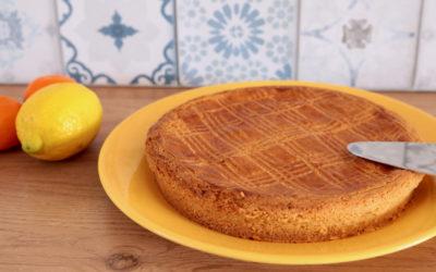 Gâteau basque aux agrumes
