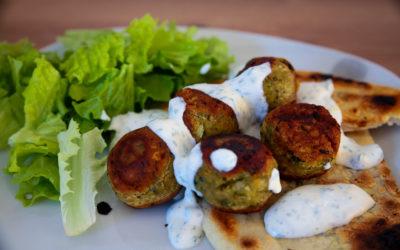 Falafels & pain plat au yaourt
